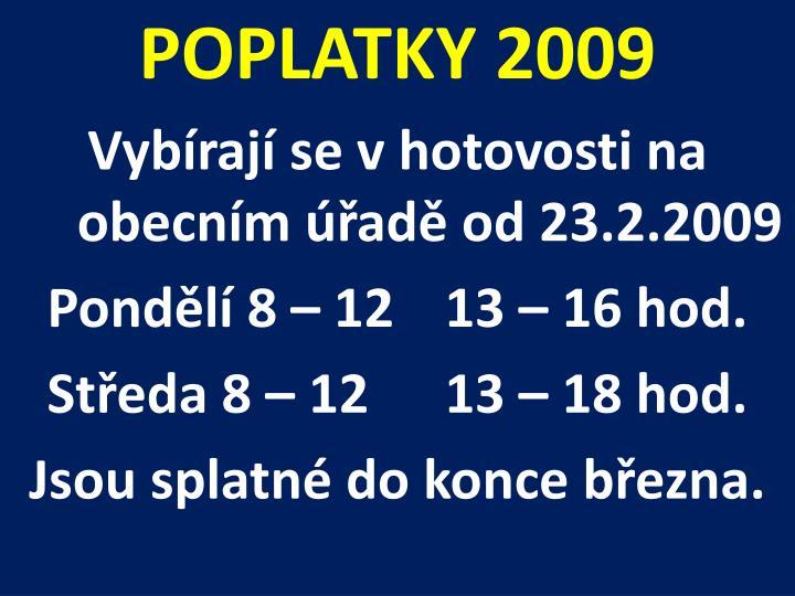 POPLATKY 2009