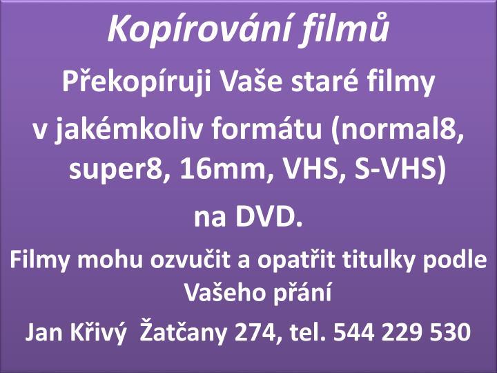 Kopírování filmů