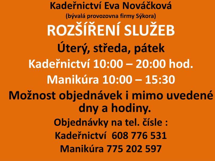 Kadeřnictví Eva Nováčková