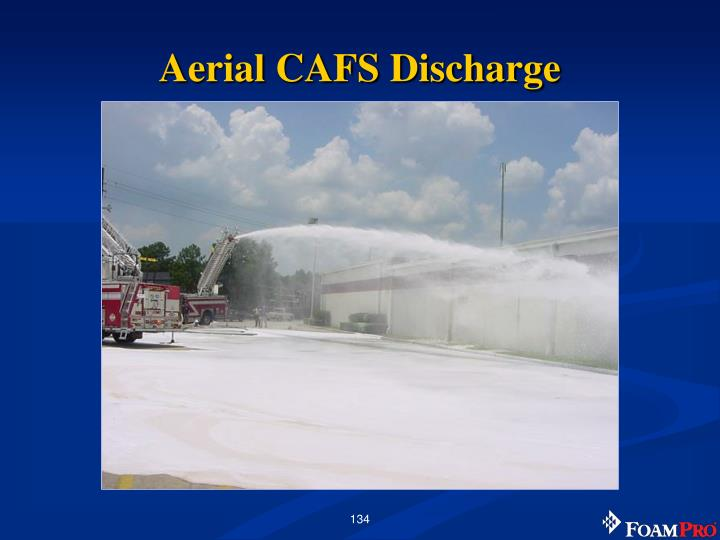 Aerial CAFS Discharge