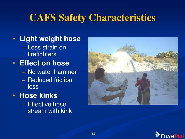 CAFS Safety Characteristics