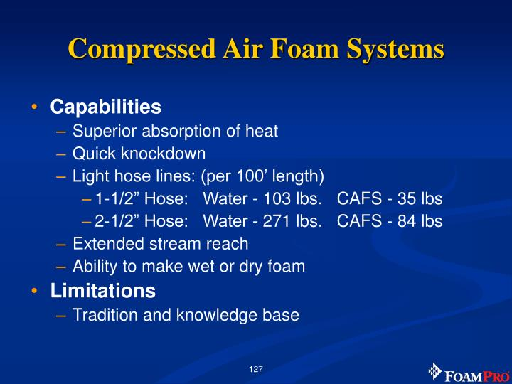 Compressed Air Foam Systems