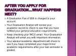 after you apply for graduation what happens next