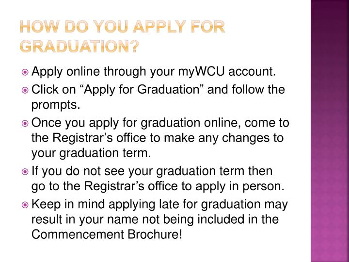 How Do You Apply for Graduation?