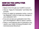how do you apply for graduation