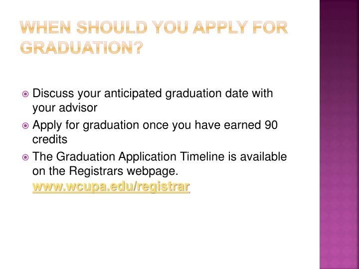 When should you apply for graduation