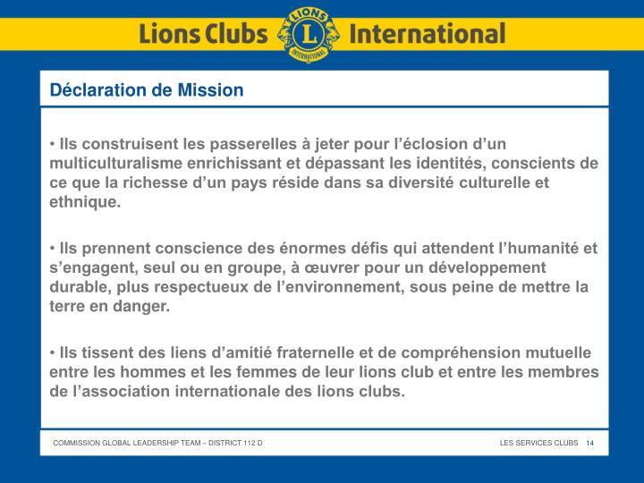 Déclaration de Mission