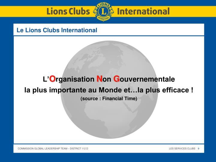 Le Lions Clubs International