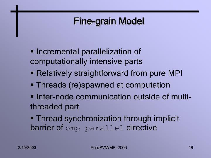 Fine-grain Model