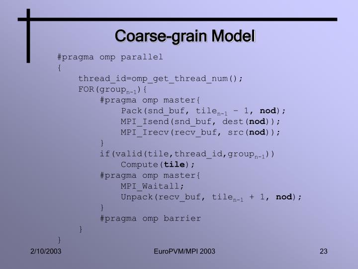 Coarse-grain Model