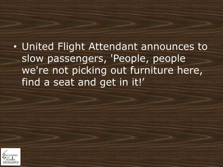 United Flight Attendant