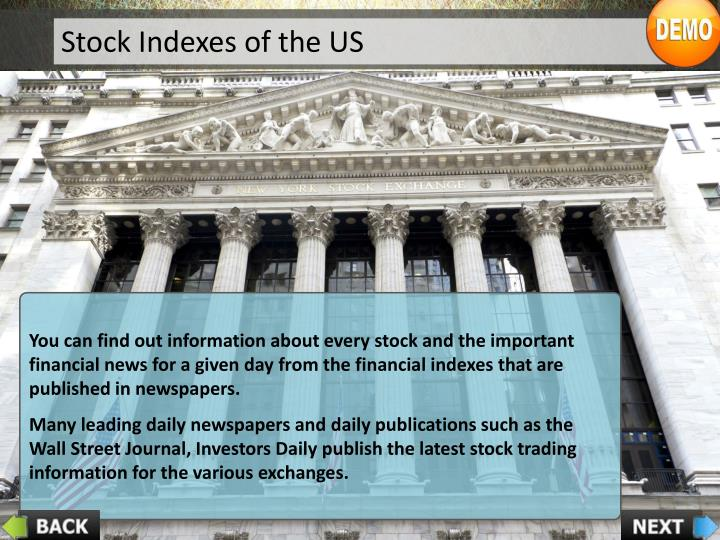 Stock Indexes of the US