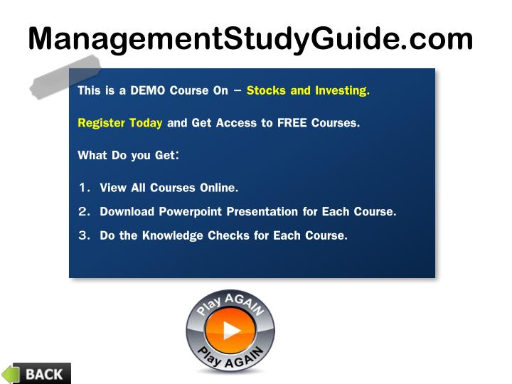 This is a DEMO Course On –