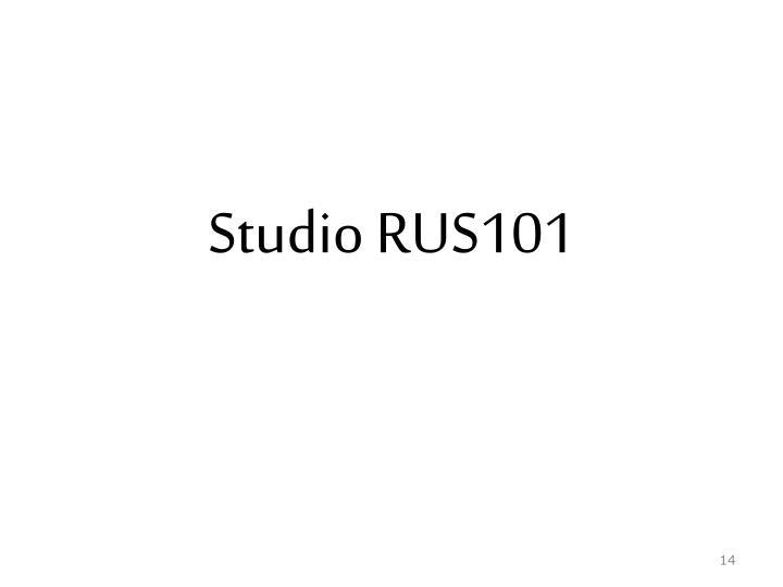 Studio RUS101