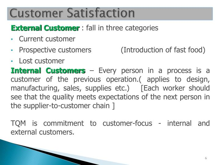 what are external customers External and internal customers 1 external and internal customers 2 an external customer is someone who uses the products or services of the company but is not part of the organization an example of this is a c.