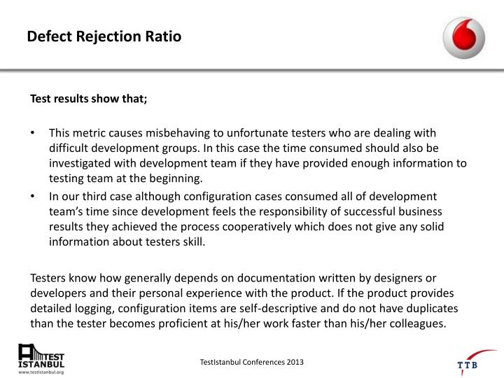 Defect Rejection Ratio