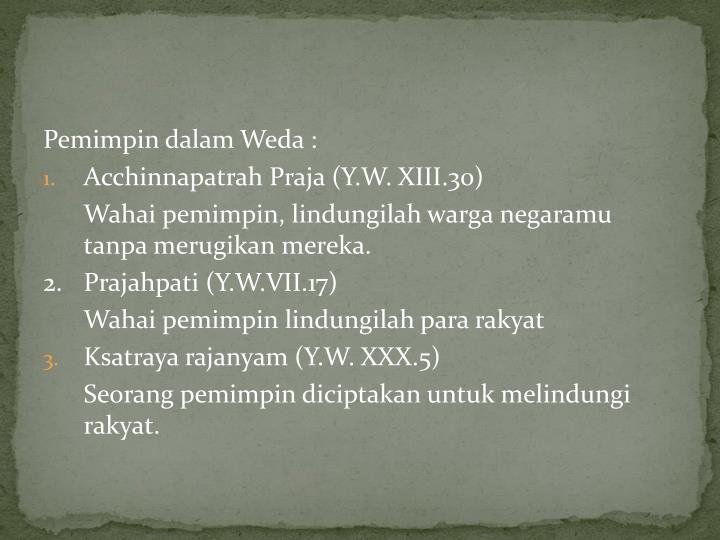 Pemimpin dalam Weda :