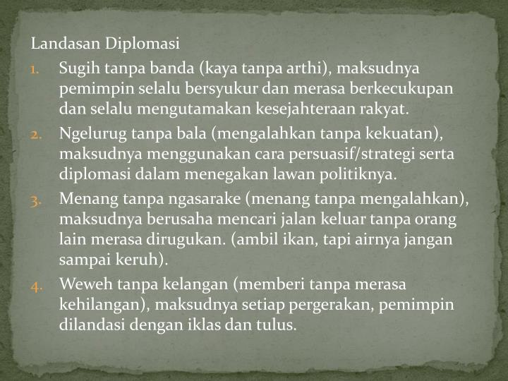 Landasan Diplomasi