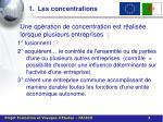 1 les concentrations
