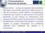 17 concentrations instruction du dossier