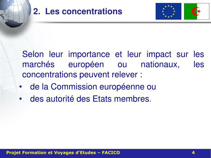 2.  Les concentrations