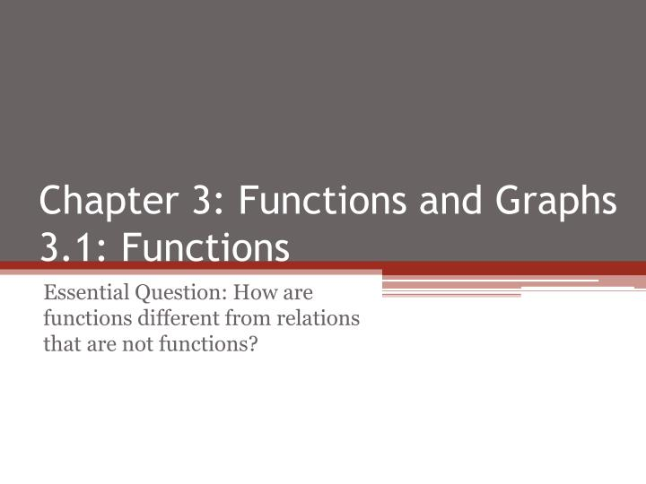 Chapter 3 functions and graphs 3 1 functions