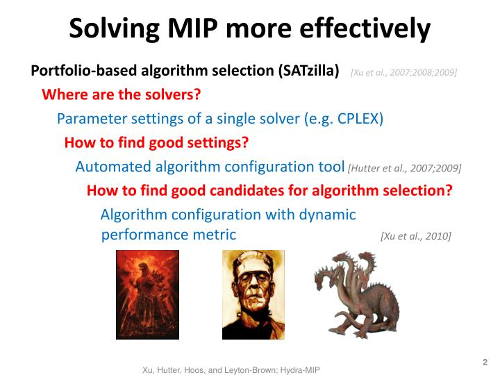 Solving mip more effectively