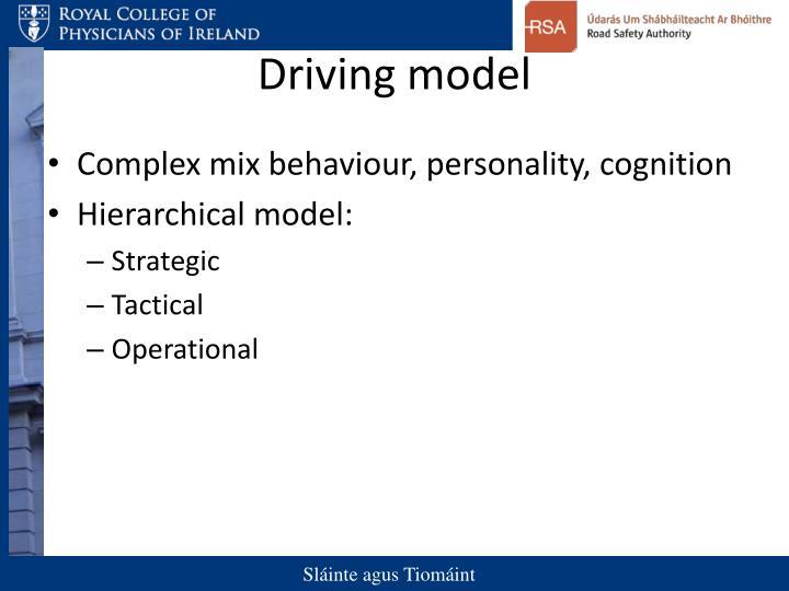 Driving model