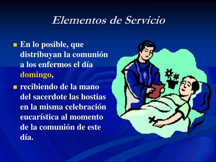 Elementos de Servicio