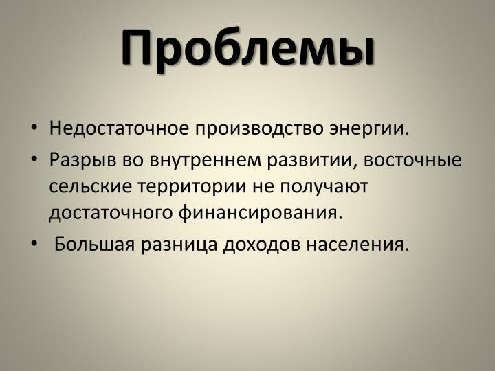 Проблемы