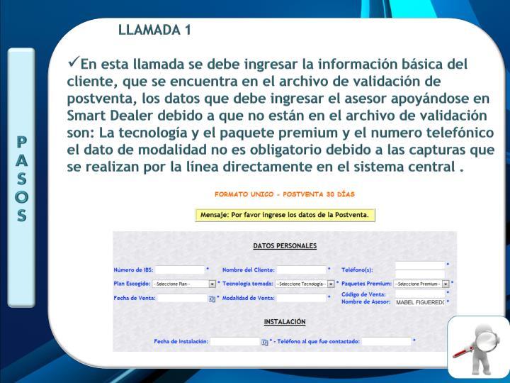 LLAMADA 1