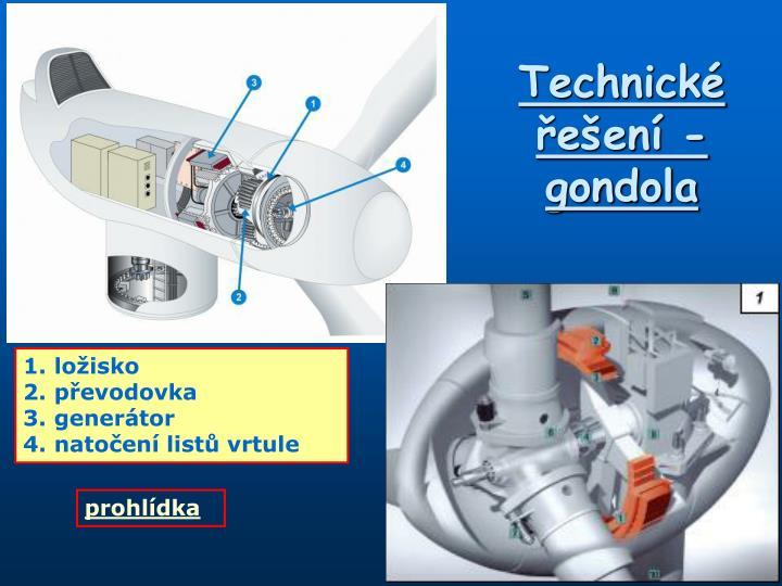 Technické řešení - gondola