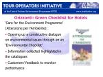 orizzonti green checklist for hotels