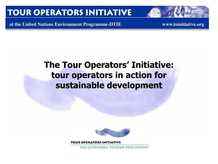 The Tour Operators' Initiative: