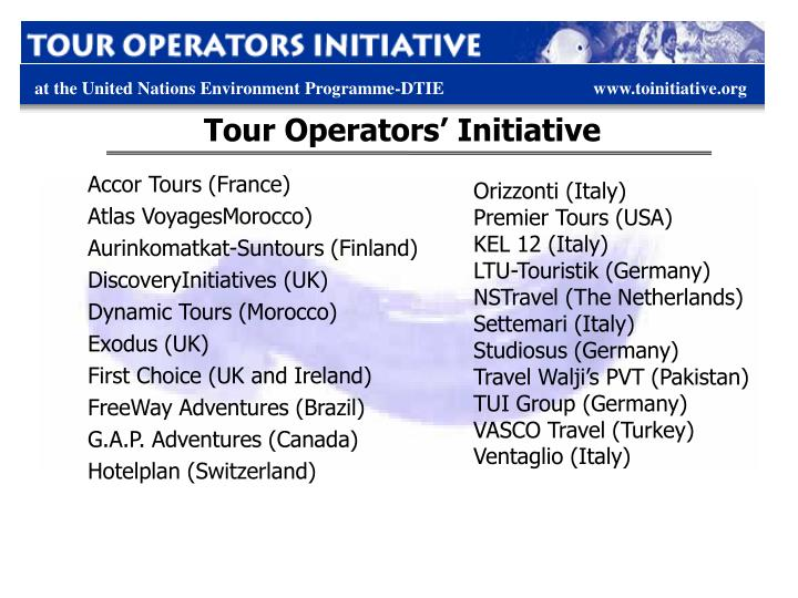 Tour Operators' Initiative