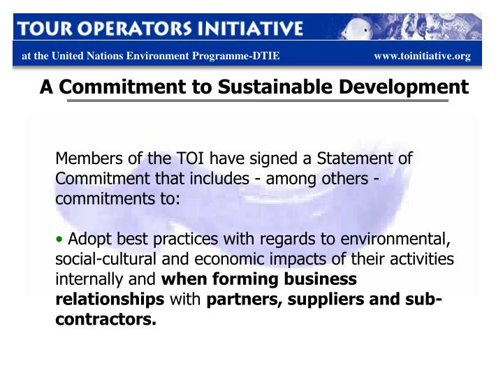 A Commitment to Sustainable Development