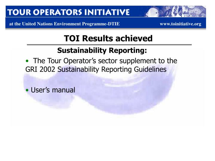 TOI Results achieved