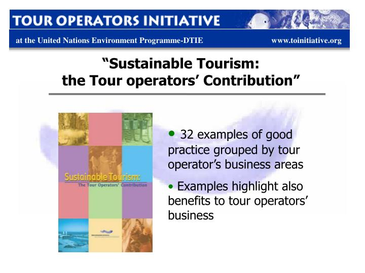 """Sustainable Tourism:"