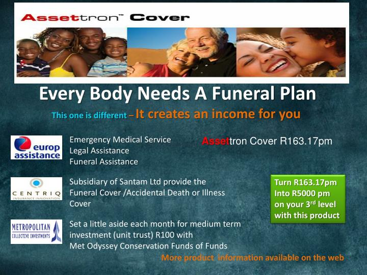 Every Body Needs A Funeral Plan
