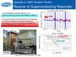 upgrade of jaea tandem facility recover of superconducting resonator