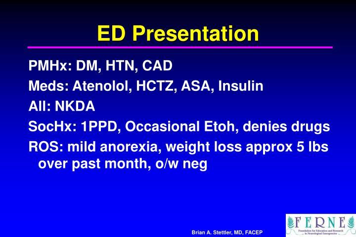 ED Presentation