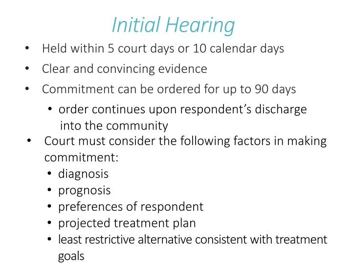 Initial Hearing