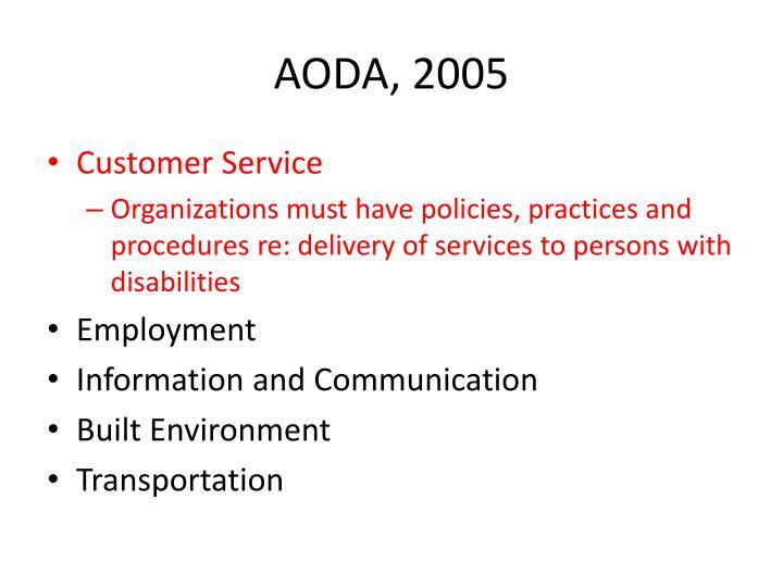 AODA, 2005
