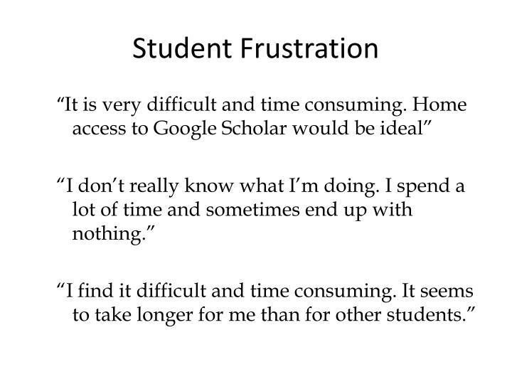 Student Frustration
