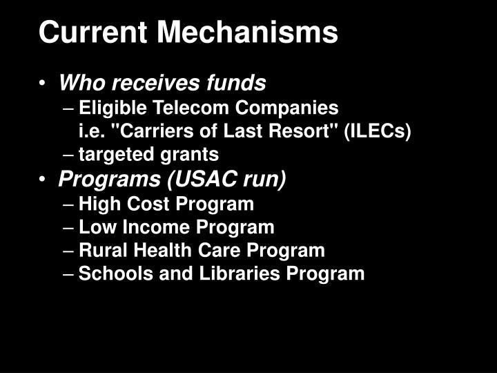 Current Mechanisms