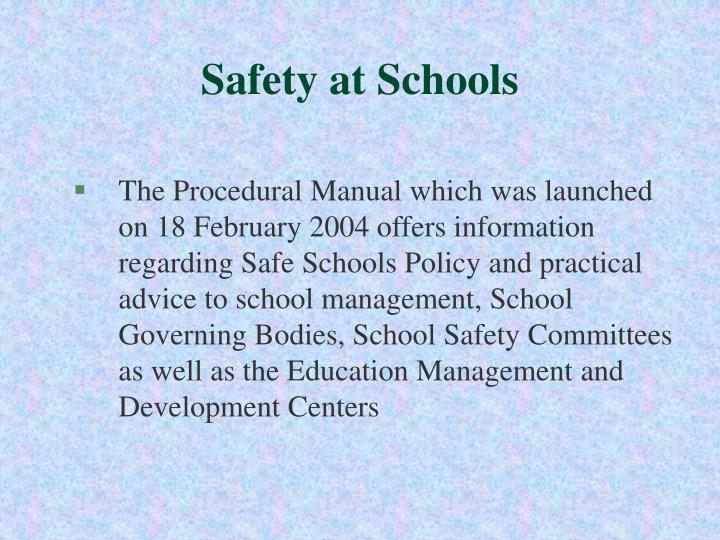 Safety at Schools