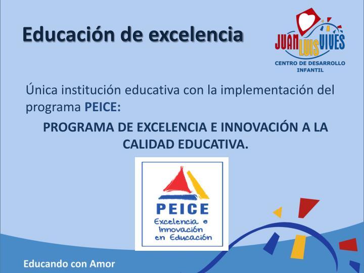 Educación de excelencia
