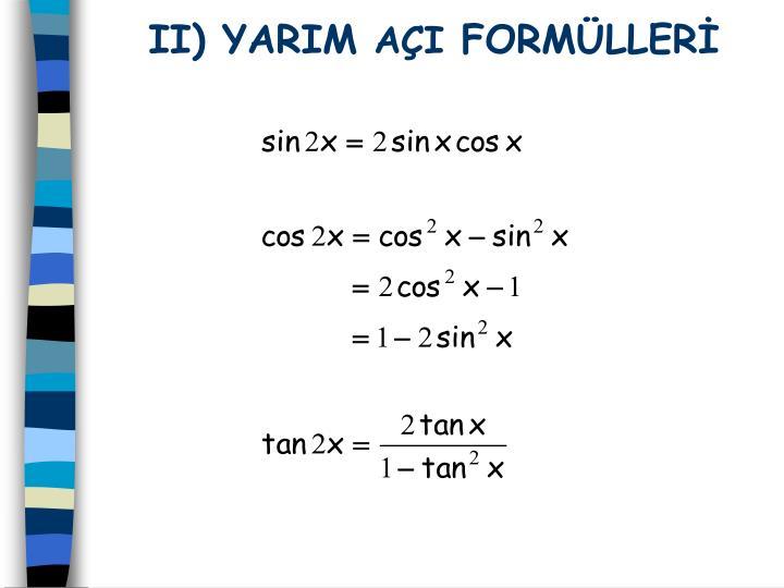 II) YARIM