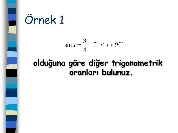 rnek 1