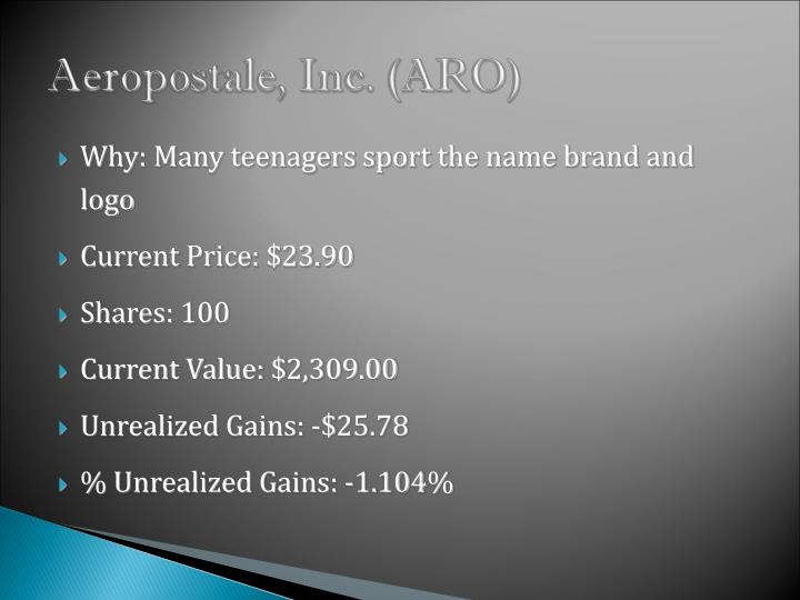 Aeropostale, Inc. (ARO)